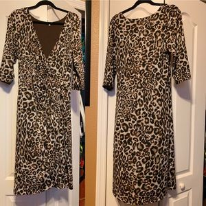Kiyonna Size 1 (14/16) Leopard Dress